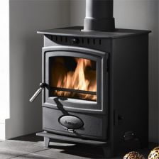 A traditional wood burning stove