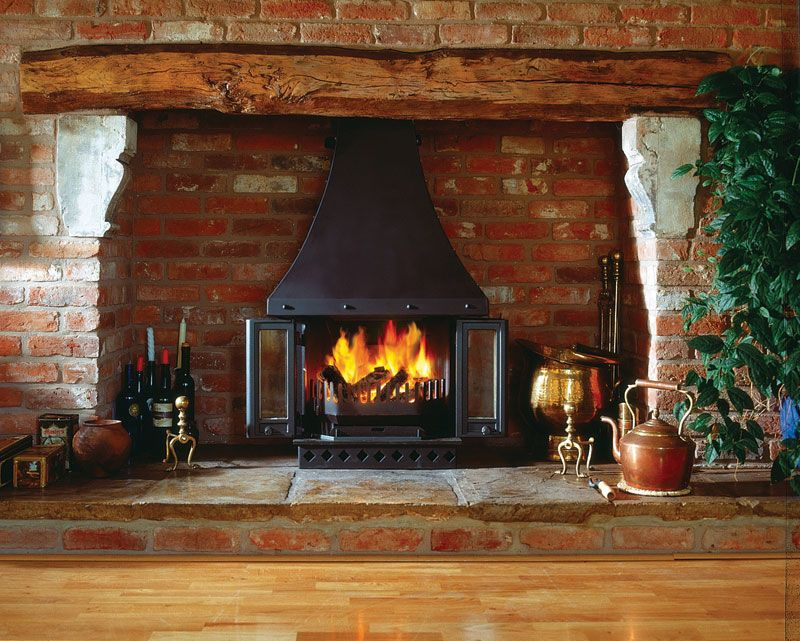 Dovre 1800 Multifuel Wood Burning Fireplace Stove