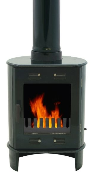 Carron Dante Green Enamel Wood Burning Multifuel Stove