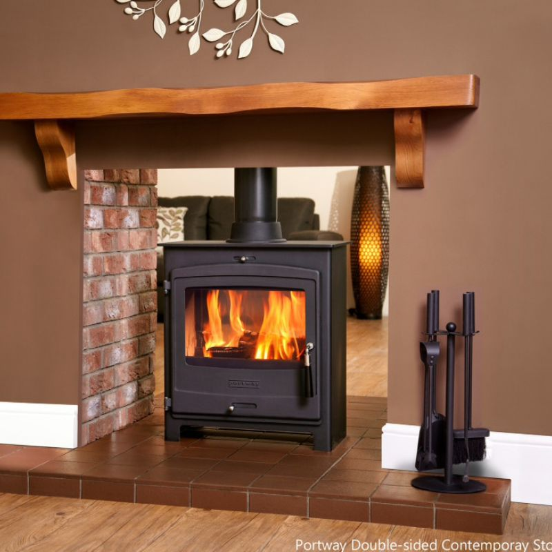 Portway double sided stove Wood burning stoves