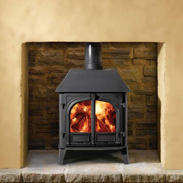 Wood Burning Stove : Stovax Stockton 8 Multifuel Wood Burning Stove