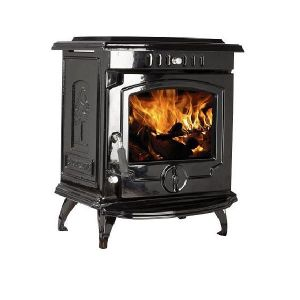 Lilyking 657 Black Enamel Multi Fuel Boiler Stove
