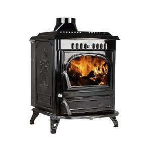 Lilyking 677 Black Enamel Multi Fuel Boiler Stove