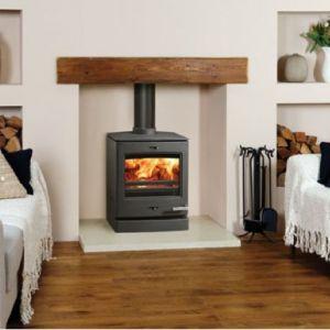 Log Burner Wooden Lintel Brick Fireplace House