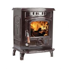 Lilyking 627 Brown Enamel Multi Fuel Boiler Stove