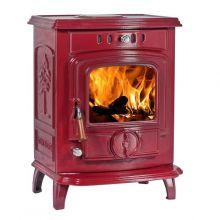 Lilyking 627 Red Enamel Multi Fuel Boiler Stove