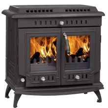 Lilyking 667 Matt Black Multi Fuel Boiler Stove