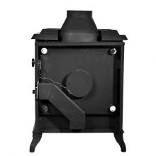 Lilyking 677 Multi Fuel Boiler Stove Rear View