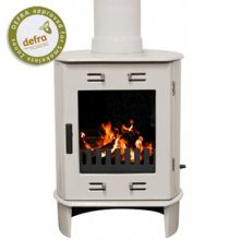 Carron Dante Cream Enamel Wood Burning / Multi-fuel Stove