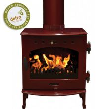 Carron 5kW Red Enamel Multifuel / Wood-Burning Stove