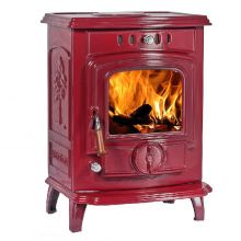 Lilyking 629 Red Enamel Multi-Fuel Stove