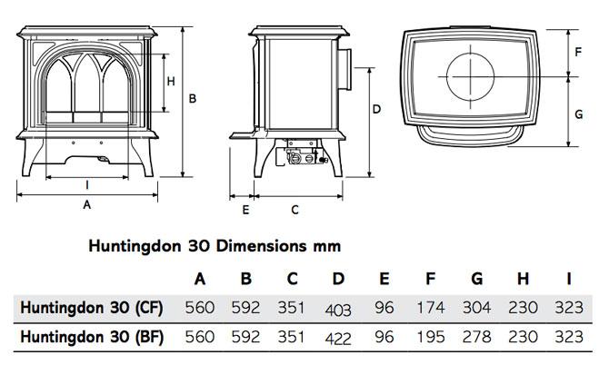 Huntingdon 30 Dimensions