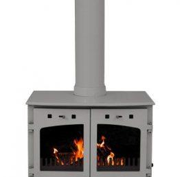 Carron 11kW SE Ash Grey Enamel Multi Fuel / Woodburning Stove