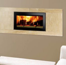 Stovax Riva Studio Sienna Wood Burning Cassette Fire