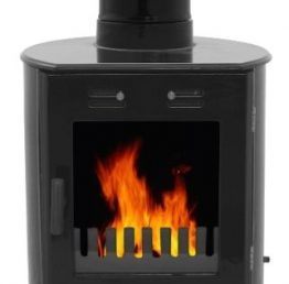 Carron Dante Black Enamel Woodburning / Multi-fuel Stove