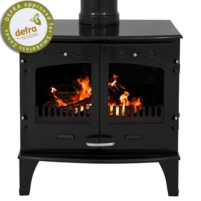 Carron 11kw Se Black Enamel Multi Fuel Woodburning Stove