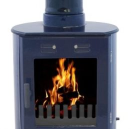 Carron Dante Blue Enamel Wood-Burning / Multifuel Stove