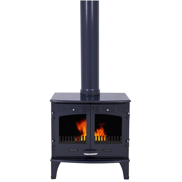 Carron 11kw Se Blue Enamel Multi Fuel Woodburning Stove