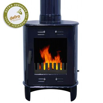 Carron Dante Blue Enamel Wood Burning Multifuel Stove