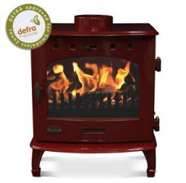 Carron 7.3kW SE Red Enamel