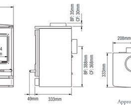 Yeoman CL5 Balanced Flue Gas Stove