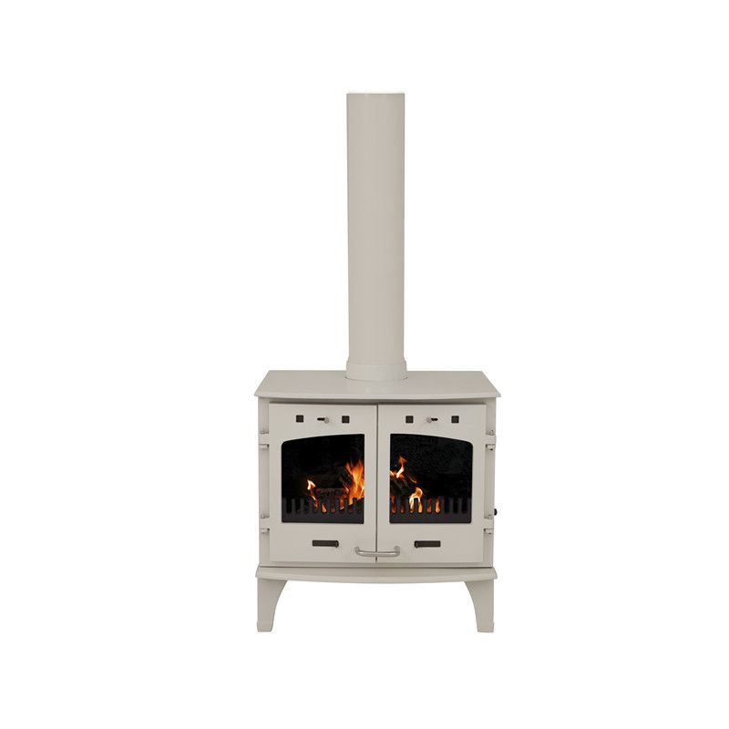 Carron 11kw Se Cream Enamel Multi Fuel Woodburning Stove