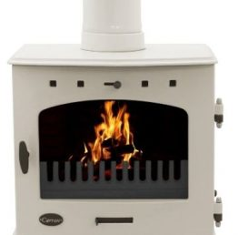 Carron 7.3kW SE Cream Enamel Multifuel / Woodburning Stove