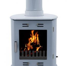 Carron Dante China Blue Enamel Wood burning / Multi-fuel Stove
