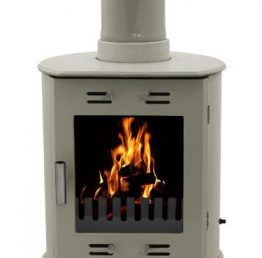 Carron Dante Sage Green Enamel Wood burning / Multi-fuel Stove