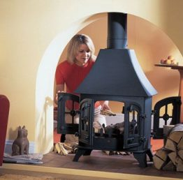 Yeoman Devon Double Sided Woodburning / Multifuel Stove
