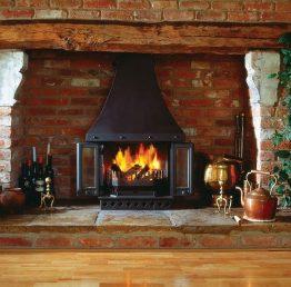 Dovre 1800 Multifuel / Wood Burning Fireplace Stove