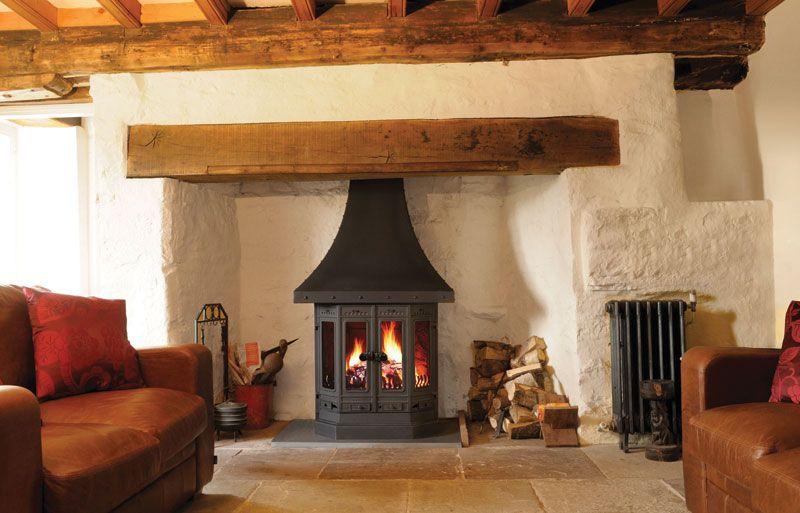 Dovre 2000 Multifuel Wood Burning Fireplace Stove