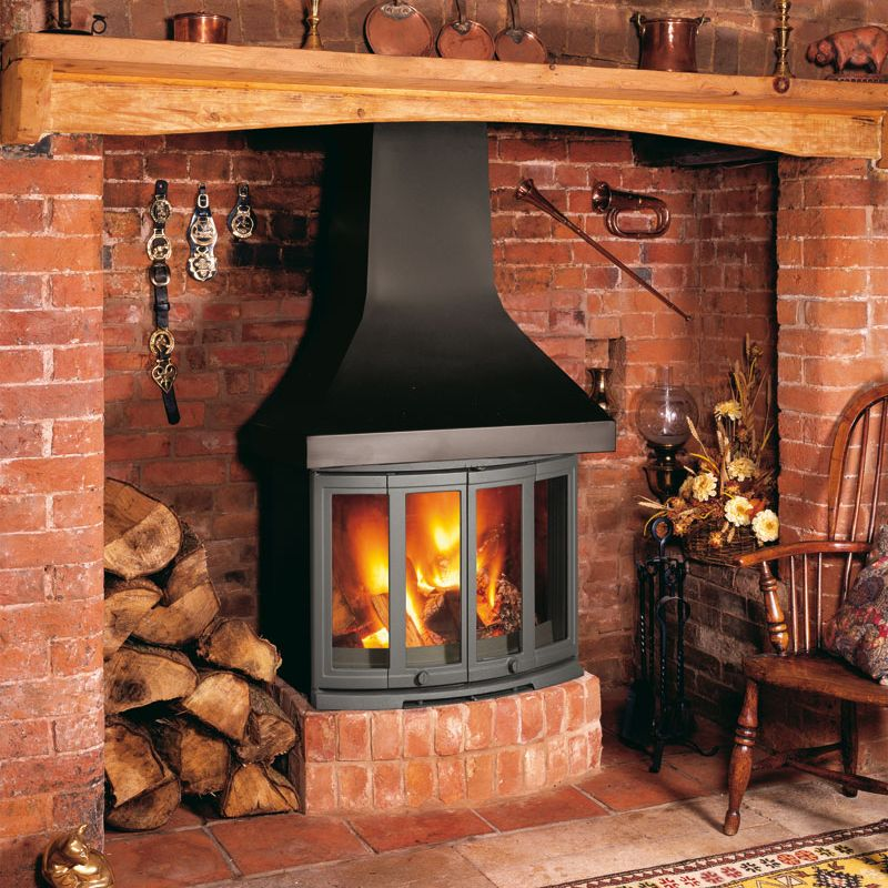 Dovre 2400cb Wood Burning Fireplace Stove Leeds Stove Centre