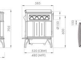 Dovre 700 Multifuel Stove