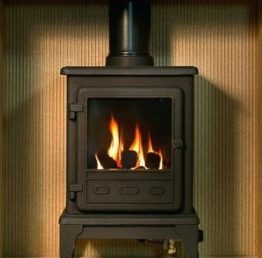 Gallery Collection Durrington Fireplace Package with Firefox Gas Stove
