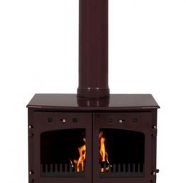 Carron 11kW SE Egg Plant Enamel Multi Fuel / Wood Burning Stove