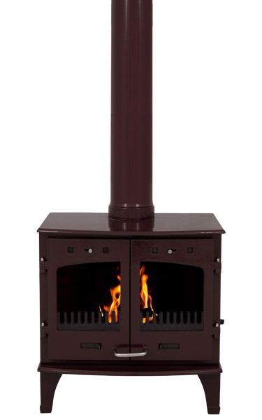 Carron 11kw Se Egg Plant Enamel Multi Fuel Wood Burning