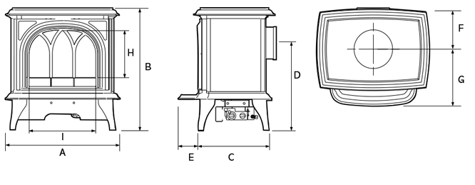 Huntingdon 30 Electric Dimensions