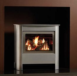 Gazco Small Steel Manhattan Gas Stove
