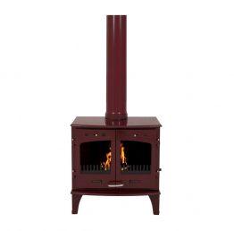 Carron 11kW SE Red Enamel Multi Fuel / Woodburning Stove