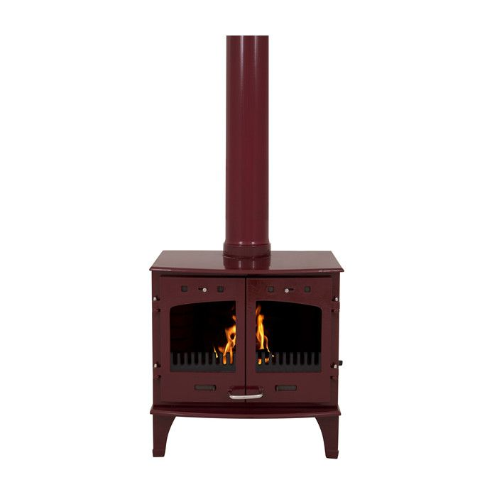 Carron 11kw Se Red Enamel Multi Fuel Woodburning Stove