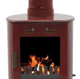 Carron Dante Red Enamel Woodburning / Multi-fuel Stove