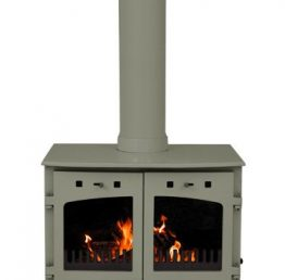 Carron 11kW SE Sage Green Enamel Multi Fuel / Woodburning Stove